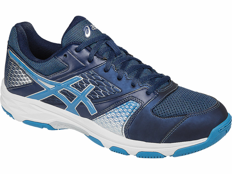 Asics Mens Blue White Gel domain 4 Multi court shoes Poseidon Jewel