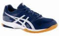 new - Asics Gel-Rocket 8 Men's Indoor Court Shoes, Indigo Blue/ Silver / White