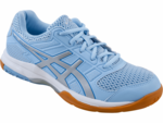last few in this color - Asics Gel-Rocket 8 Women's Indoor Court Shoes, Airy Blue/ Silver / White