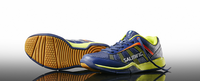 Salming Adder Junior Court Shoes, Blue / Yellow