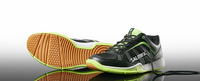 Last pair - Salming Adder Men's Court Shoes, Black / Green, size 11