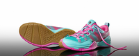Salming Kobra Women's Court Shoes, Turquoise / Pink