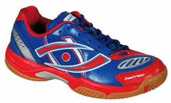last few - Harrow Volt Men's Squash / Racquetball Shoes, Blue/Red, SIZE 9.5