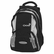 Prince 03 Backpack, black with silver