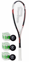 Prince EXO3 Red Squash Racquet