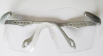 S & W Squash / Racquetball Goggles, Silver frame