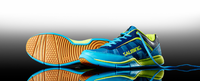 Salming Adder Men's Court Shoes, Cyan / Safety Yellow