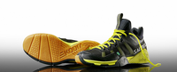 last few - Salming Kobra Men's Mid Court Shoes, Black / Yellow, SIZE 8.5