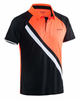 Salming Men's Performance Polo, Black/ Magma Red