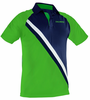 Salming Men's Performance Polo, Gecko Green / Navy