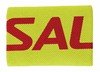 Salming Wide Wristband, Fluorescent Yellow / Red, 1-pack