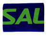 Salming Wide Wristband, Navy / Gecko Green, 1-pack