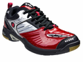 last few - Saxon SX900 Men's Court Shoes, Black / Red