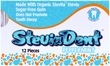 Stevita SteviaDent Sugar Free Natural Peppermint Gum - 1 single blister pack of 12 pieces of gum
