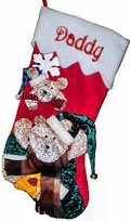 "20"" Teddy Bear Christmas Stockings"
