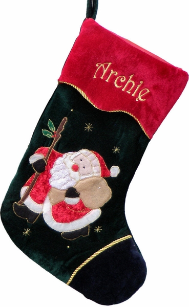 "21"" Personalized Santa XMAS Stocking"