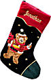 "21"" Personalized Stockings Bear Embroidered Appliqu�"