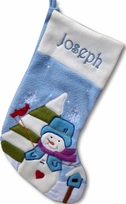 Baby Blue Fleece Chrismas Stocking
