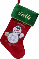 Baseball Fan's Christmas Stocking