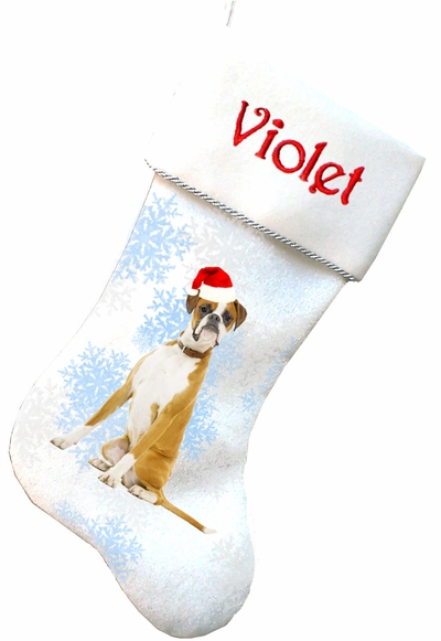 Boxer Personalized Christmas Stockings