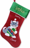 Cat Christmas Stockings - Personalized