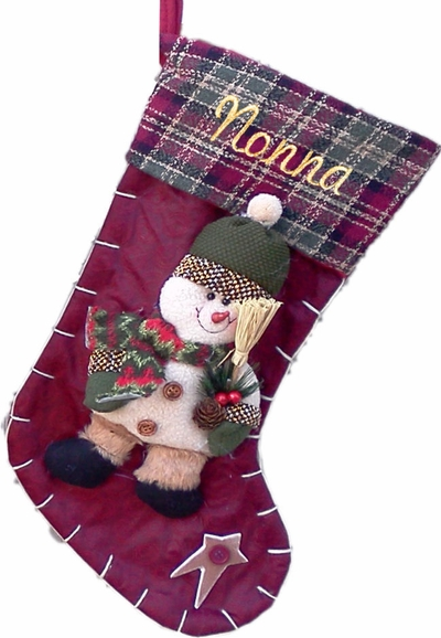 Christmas Country Snowman - Free Personalization