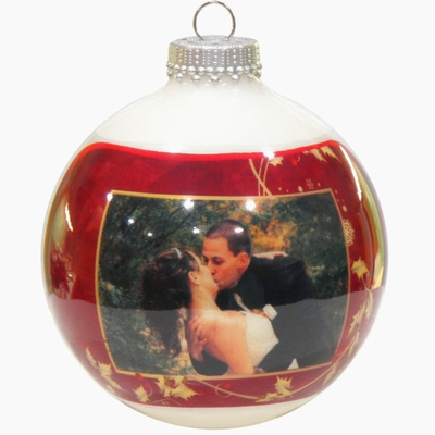 Christmas Greeting Card Photo Ornaments