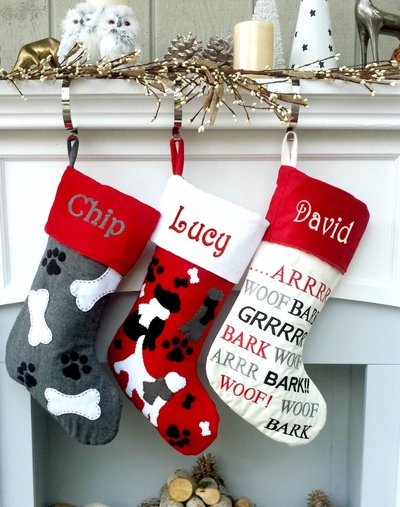 Customized Doggie Christmas Stocking