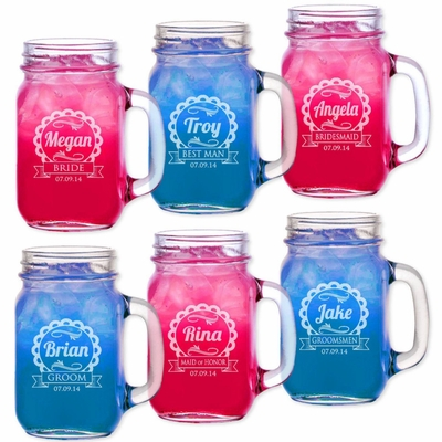 Cute Bridesmaid Gift Groomsmen Gifts Drinking Mugs Personalized Weddin