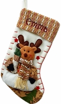 Designer Fleece Rudolph Personalized Stocking