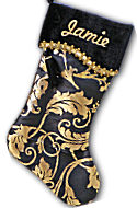 Designer Gold Christmas Stocking