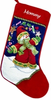 Embroidered Needlepoint Stockings - Snowman Juggling