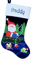 Fisherman Santa Christmas Stockings