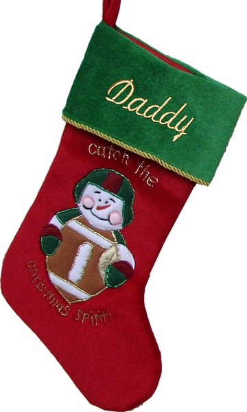 Football Christmas Stocking - Free Personalized
