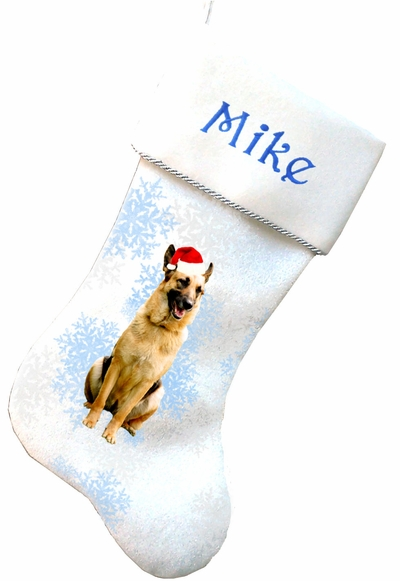 German Shepard Christmas Stockings