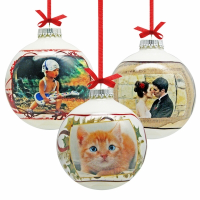 Glass Ball Personalized Photo Ornament
