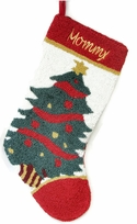 Hooked Christmas Stocking - Christmas Tree