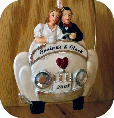 Just Married Wedding Ornament