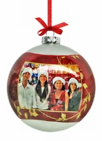 Large 4 inch Photo Ornament Ball
