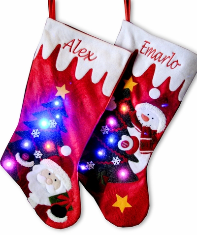 Light Up Christmas Stockings with LED Lights