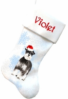Miniature Schnauzer Christmas Stocking