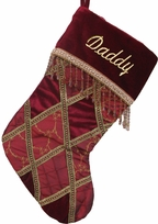 Monogrammed Diamond Renaissance Christmas Stocking