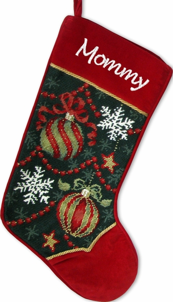Needlepoint Christmas Stockings : Ornament Design