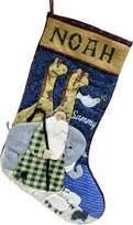 Noah's Ark Christmas Stocking