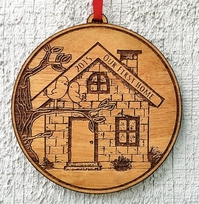 Our First Home Christmas Ornament First House Ornament Personalized Ch