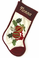 Personalized Holiday Stockings Ornaments Applique