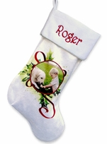 Personalized Photo Christmas Stocking