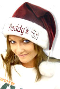 Personalized Velvet Santa Hat with Plush Cuff