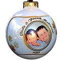 Photo Christmas Ornament - Snowflake Border