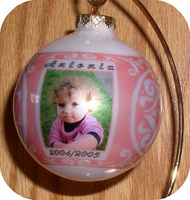 Photo Ornament - Baby Blue or Pink